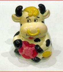 Ceramiczne krowy z kolekcji Renaty Sucheckiej