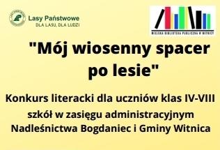 "Konkurs literacki ""Mój wiosenny spacer po lesie"""